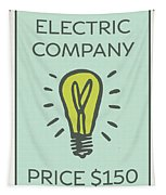 Electric Company Vintage Monopoly Board Game Theme Card Tapestry