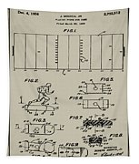Electric Football Patent 1955 Aged Gray Tapestry