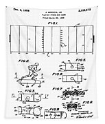 Electric Football Patent 1955 Tapestry