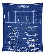 Electric Football Patent 1955 Blueprint Tapestry