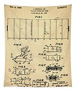 Electric Football Patent 1955 Sepia Tapestry