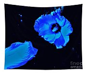 Electrifying Blue Beauty Tapestry