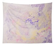 Elegant Hand Made Ink Design In Purple And Yellow Tapestry