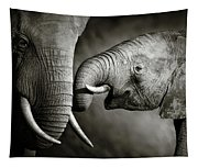 Elephant Affection Tapestry