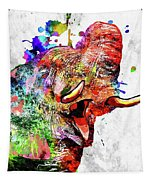 Elephant Colored Grunge Tapestry