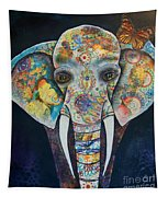 Elephant Mixed Media 2 Tapestry