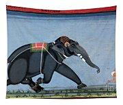 Elephant & Trainer, C1750 Tapestry