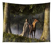 Elf And Buck Tapestry
