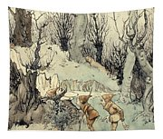 Elves In A Wood Tapestry
