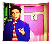 Elvis Has Left The House 20151225 Square Tapestry