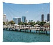 Embarcadero Marina Park South Pier Close Up Tapestry