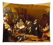 Embarkation Of The Pilgrims Tapestry