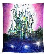 Emerald Palace Of Ancient Queen Of Space Aliens Tapestry