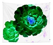 Emerald Rose Tapestry