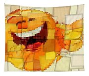 Emoticon Mosaic Cubism Tapestry