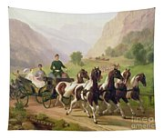Emperor Franz Joseph I Of Austria Being Driven In His Carriage With His Wife Elizabeth Of Bavaria I Tapestry