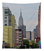 Empire State Empty Street Tapestry