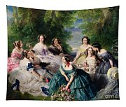 Empress Eugenie Surrounded By Her Ladies In Waiting Tapestry