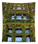 Empress Hotel Windows Tapestry