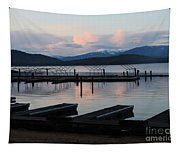 Empty Docks On Priest Lake Tapestry