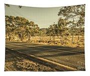 Empty Regional Australia Road Tapestry