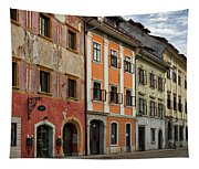 Empty Street In Slovenia Tapestry