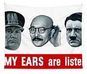 Enemy Ears Are Listening Tapestry