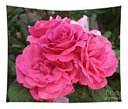 Energizing Pink Roses Tapestry