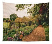 England - Country Garden And Flowers Tapestry