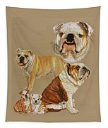 English Bulldog Tapestry