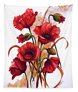 English Poppies 2 Tapestry