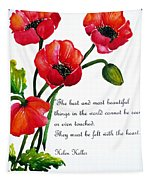 English Poppy   Poem Tapestry