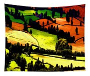 English Summer Fields Tapestry