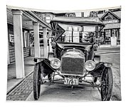Englishtown New Jersey Antique Classic Car Tapestry