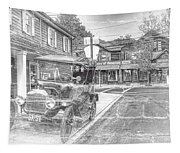 Englishtown New Jersey Classic Car Tapestry