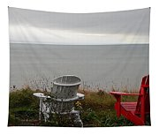 Red, White And View Tapestry