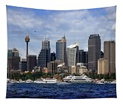 Enjoying Australian Day On The Water Tapestry