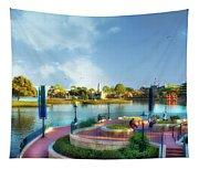 Enjoying The Shade World Showcase Lagoon Walt Disney World Tapestry