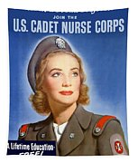 Enlist In A Proud Profession - Join The Us Cadet Nurse Corps Tapestry