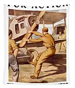 Enlist In The Air Service Tapestry