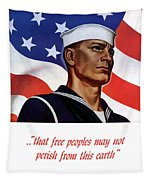 Enlist In Your Navy Today - Ww2 Tapestry