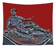 Enos Country Slaughter Statue - Busch Stadium Tapestry