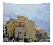 Entering Cefalu In Sicily Tapestry