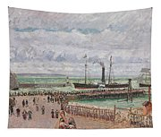 Entrance To The Port Of Le Havre And The West Breakwaters Tapestry