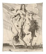 Equestrian Portrait Of Louis Xiii Of France Tapestry