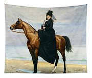 Equestrian Portrait Of Mademoiselle Croizette Tapestry
