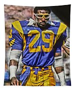 Eric Dickerson Los Angeles Rams Art Tapestry