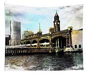 Erie Lakawanna Ferry And Train Station Tapestry