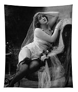 Erotic Photo Of A Model Wearing Lingerie Stockings And Garters Tapestry