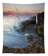 Eruption At Dawn Tapestry